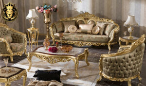 Akola Classic Style Tufted Royal Luxury Sofa Set