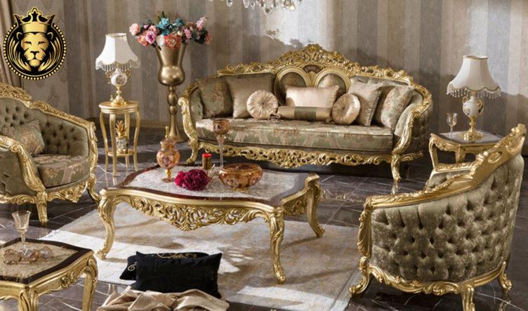 Akola Classic Style Tufted Royal Luxury Sofa Set