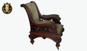 Antique Style DarkWalnut Finish Carved Arm Chair