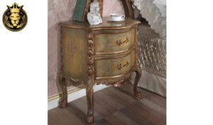 Bhanavi Antique Luxury Style Hand Carved Bedroom Set