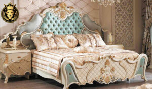 Chandigarh Classic Style Royal White and Gold Bedroom Furniture