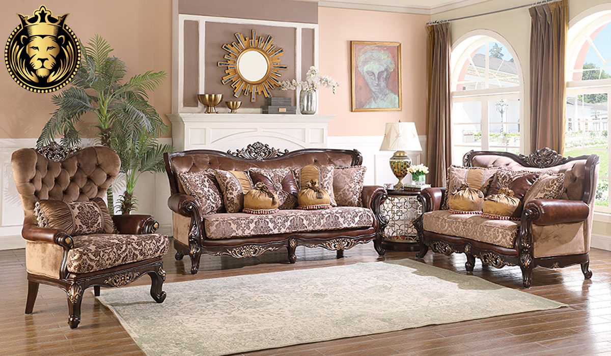 Charusheela Antique Style Ottoman Sofa Set
