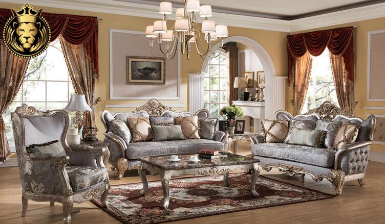 Chitrangada Neo Classical Style Carved Sofa Set