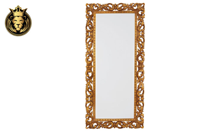 Classic Baroque Style Hand Carved Gold Leaf Mirror Frame