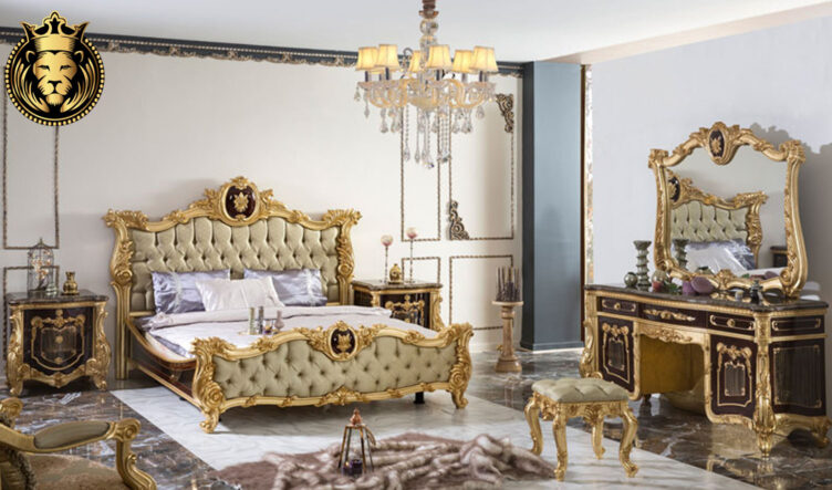 Dehradun Classic Style Royal Golden Bedroom Set
