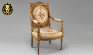 French Style Hand Carved Antique Gold Finish Chair