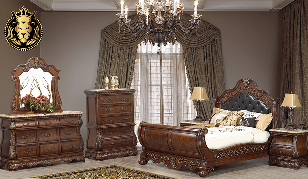 Harshada Antique Sleigh Style Bedroom Set collection