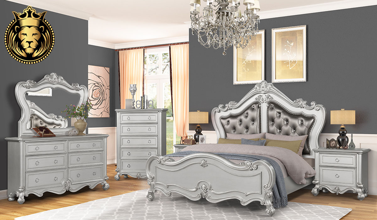 Indian Classical Style Jeevika Collection Bedroom Set