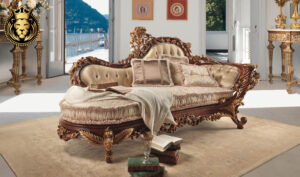 Indira Royal European Style Hand Carved Diwan Sofa