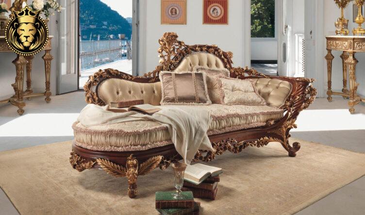 Indira Royal European Style Hand Carved Diwan Sofa