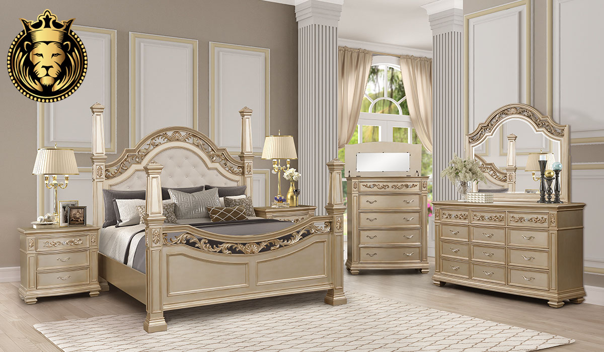 Lakshita Indian Classic Style Bedroom Set Collection