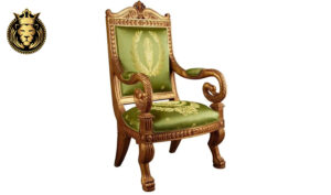 Maharaja Style Royal Golden Empire Arm Chair