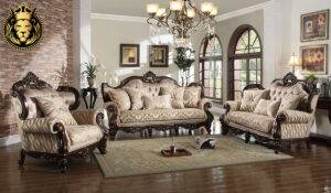 Manishitha Antique Style Carved Sofa Set