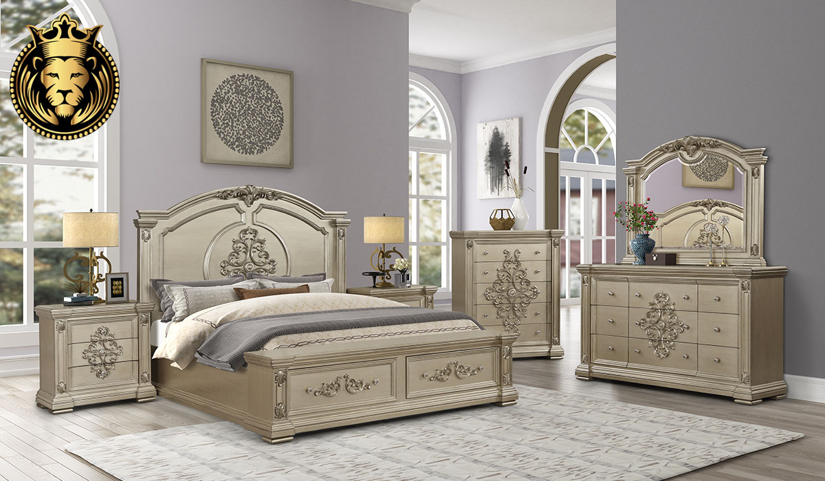 Mrinalini Indian Classic Style Bedroom Set Collection