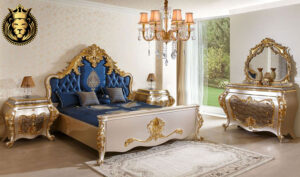 Mussoorie Classic Style Royal Golden Bedroom Furniture
