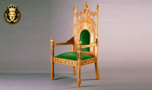 Rococo Style Carved Guru Ji Accent ChairRococo Style Carved Guru Ji Accent Chair