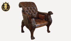 Royal Antique Style Hand Carved Accent Chair