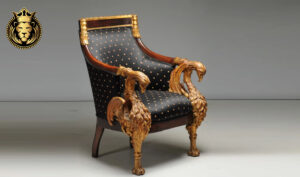 Royal Luxury Hand Carved Golden Arm Chair