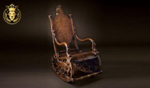 Royalzig Antique Style Hand Carved Rocking Chair