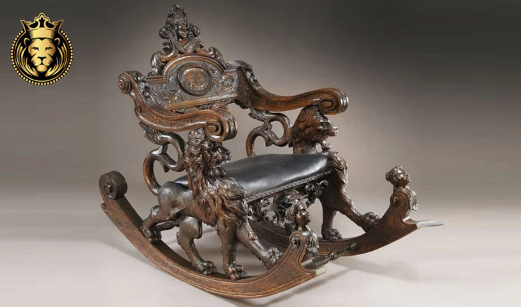 Royalzig Luxury Style Hand Carved Rocking Chair