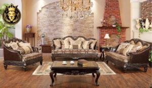 Shambhavi Antique Style Carved Sofa Set collection
