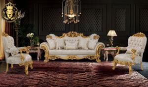 Sholapur Classic Style Royal Gold Leaf Luxury Sofa Set