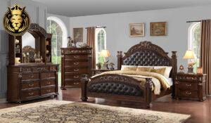 Shravani Antique Style Hand Carved Bedroom Set