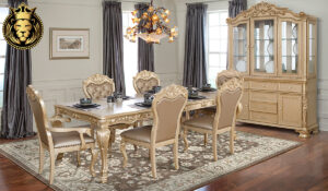 Shylah Indian Classic Style Golden Dining Room Furniture