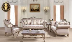 Vasundhara Classic Style Metallic Finish Sofa Set
