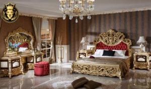 Vijayawada Classic Style Golden Bedroom Set