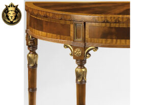 Aadrika Classic Style Veneer Inlaid Console Table