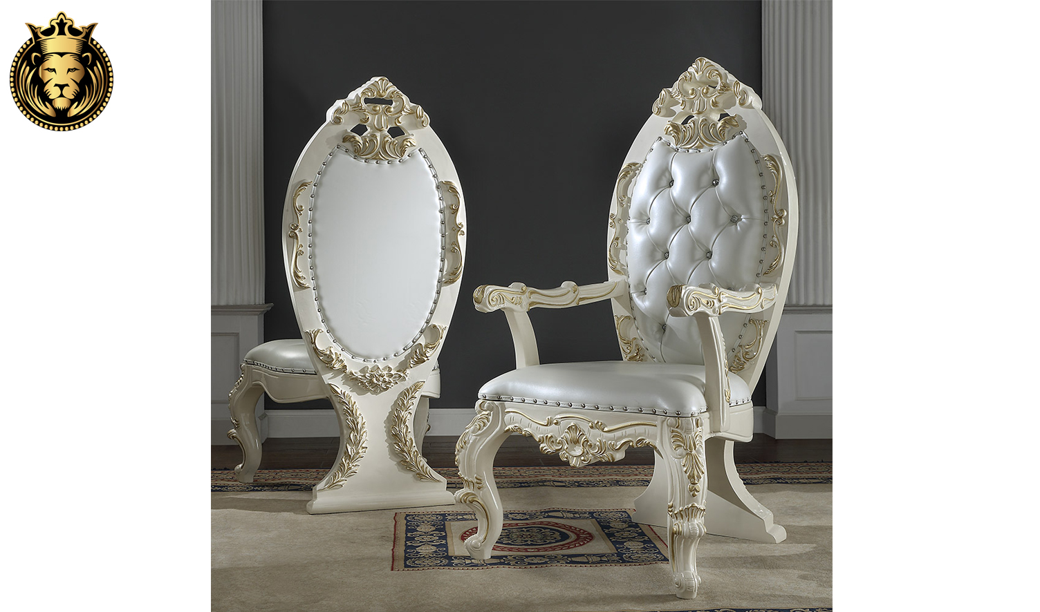 Akron European Style Hand Carved Dining Set