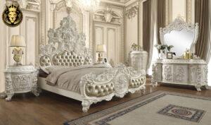 Anaheim Maharaja Style Carving Royal Bedroom Set