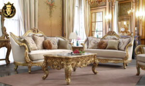 Arlington European Style Carved Luxury Sofa Set