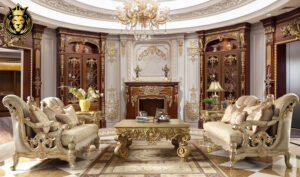 Atlanta Luxury Style Carving Royal Sofa Set
