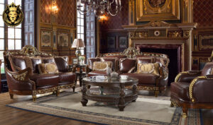 Austin Maharaja Antique Style Hand Carved Sofa Set