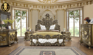 Bakersfield European Style Hand Carved Bedroom Set