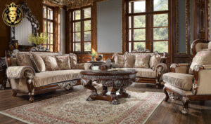 Baston European Antique Style Carving Sofa Set