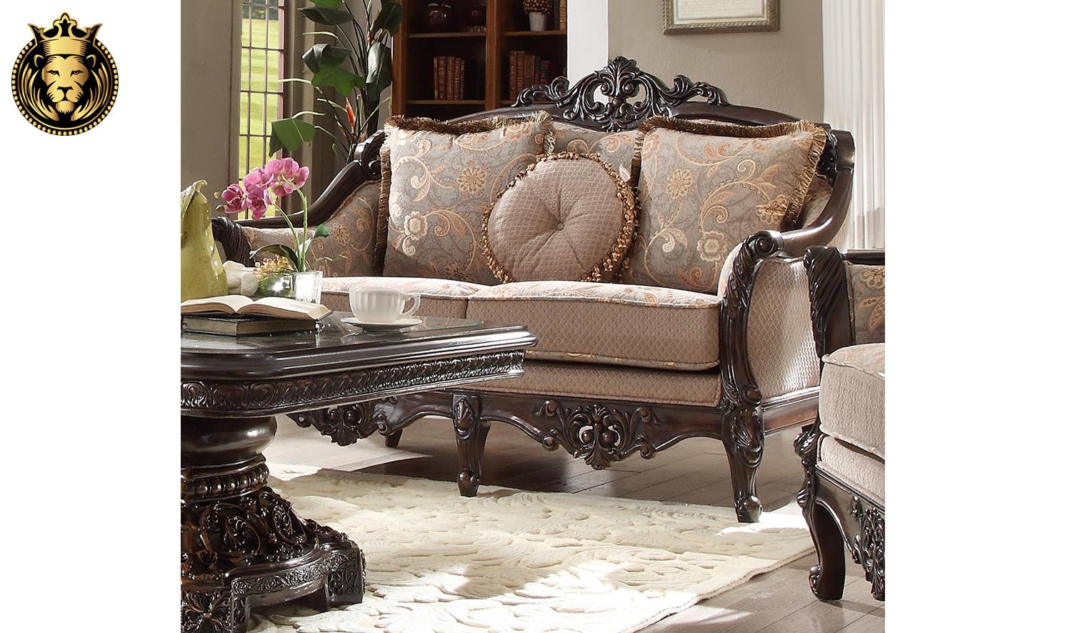 Chicago Maharaja Style Hand Carved Sofa Set