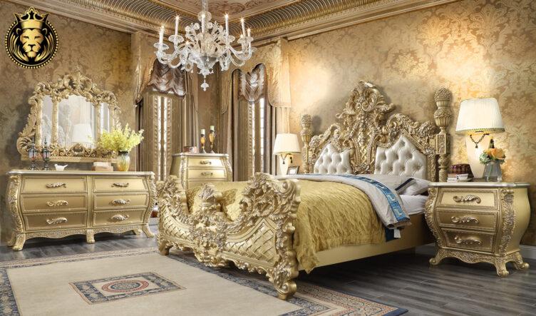 Cleveland European Style Hand Carved Bedroom Set 4