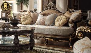 Denver Italian Style Hand Carved Sofa Set