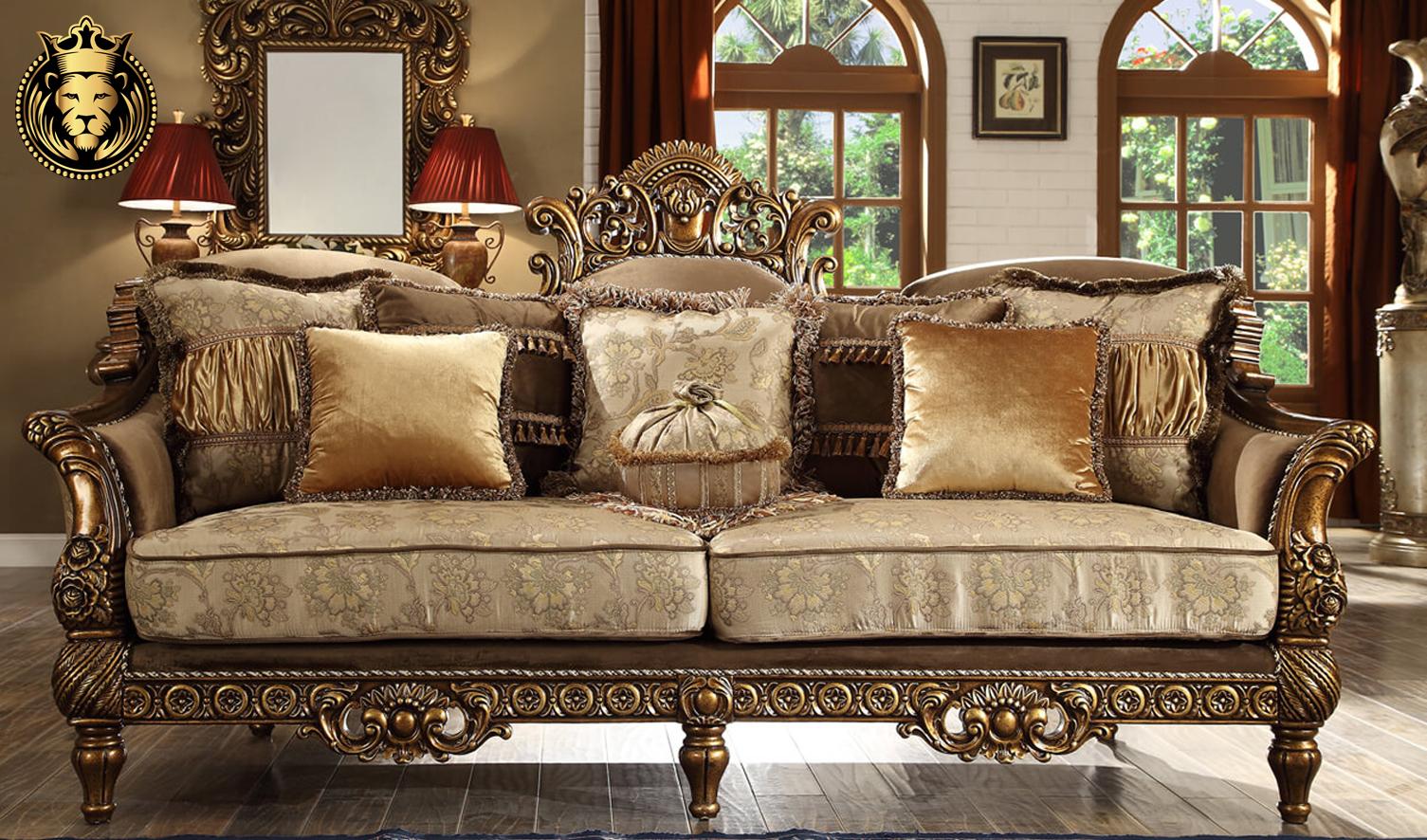 Detroit European Style High Carving Sofa Set
