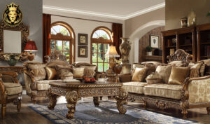 Detroit European Style High Carving Sofa Set