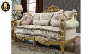 Fort Worth European Style Royal Golden Sofa Set