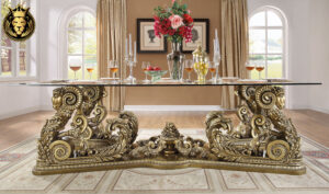Gilbert Maharaja Style Hand Carved Dining Set