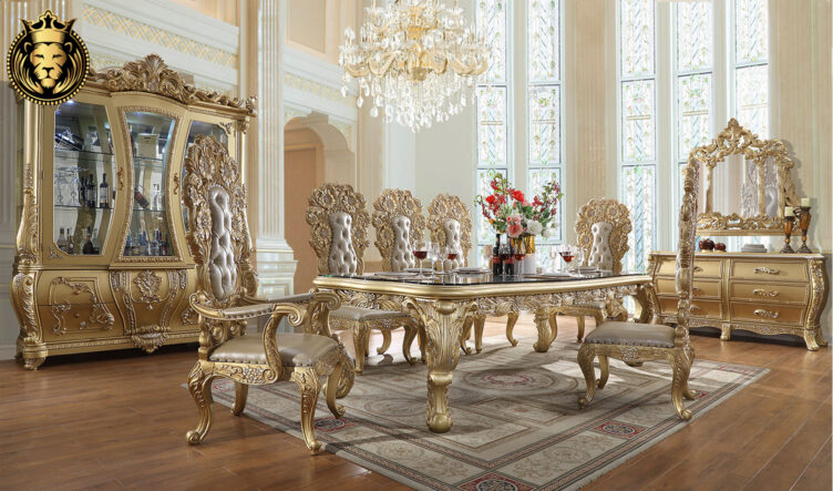 Glendale European Style Hand Carved Dining SetGlendale European Style Hand Carved Dining Set