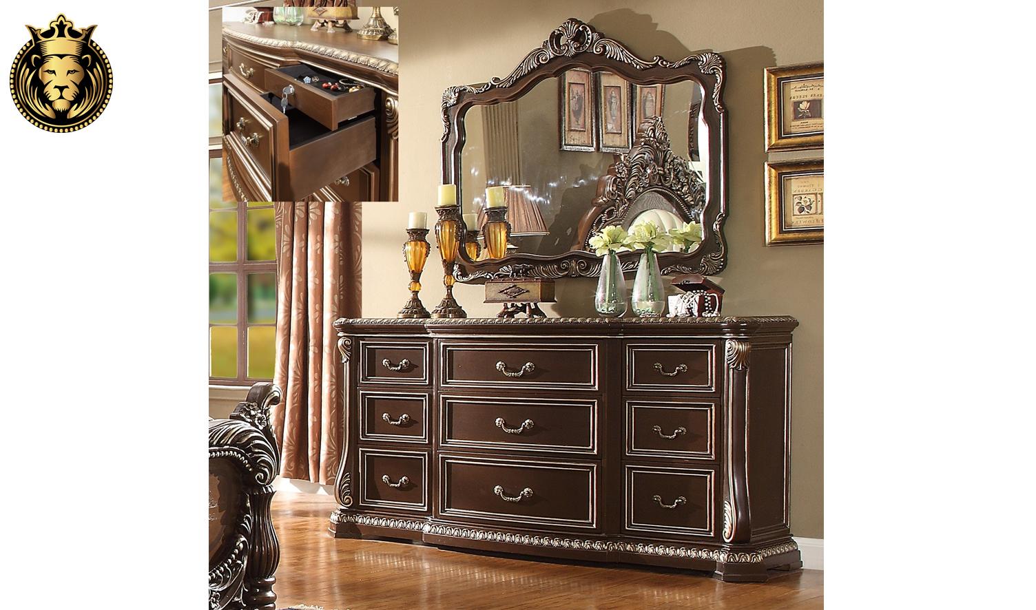Handerson European Style Hand Carved Bedroom Set