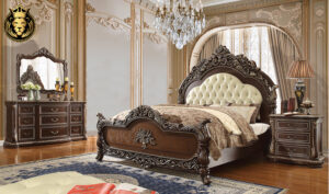 Handerson European Style Hand Carved Bedroom Set