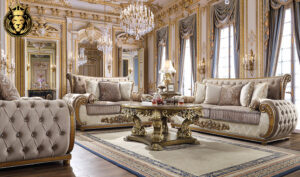 Houston Royal Luxury Style Hand Carved Sofa Set