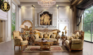 Indianapolis Classic Style Hand Carved Sofa Set